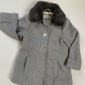 Cherokee Toddler Girls 18m Polka Dot Pea Coat Wool